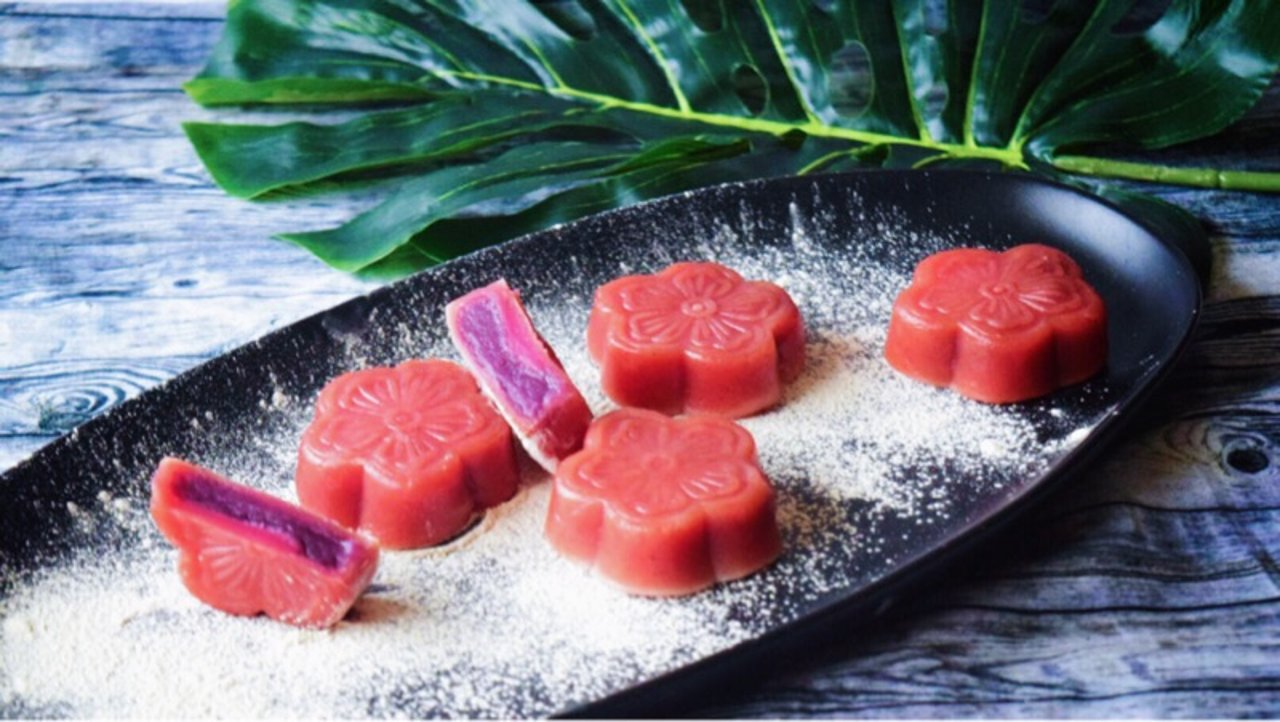 今年以最健康的模式过中秋,DIY【火龙果紫薯蒸月饼】【附三款月饼教程)