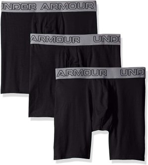 "$20Under Armour Men's Charged Cotton Stretch 6"" Boxerjock 3-Pack"