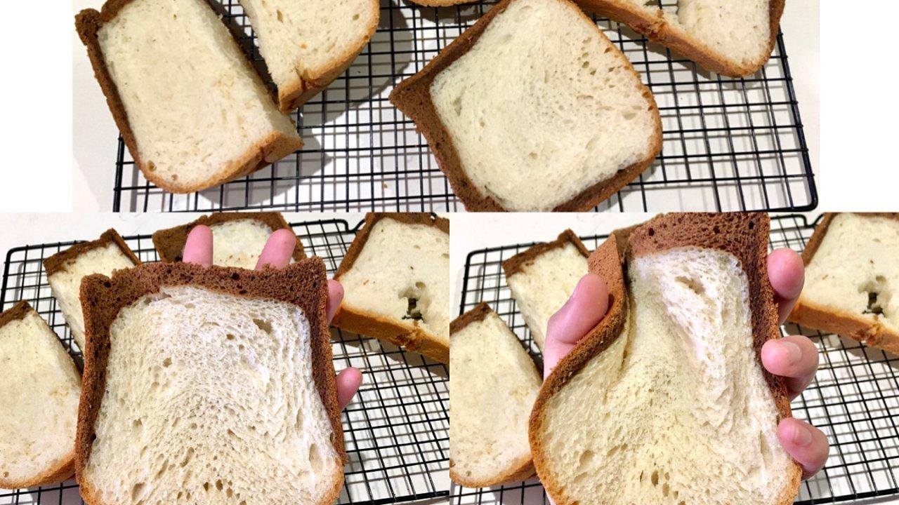 超级懒人版食谱之面包机做【波兰种黑钻吐司】