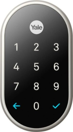 Nest x Yale Smart Lock with Nest Connect Satin Nickel RB-YRD540-WV-619 - Best Buy
