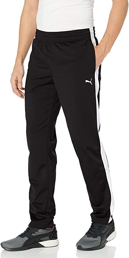 PUMA 男士运动裤Men's Contrast Pants, Black White, M at Amazon Men's Clothing store