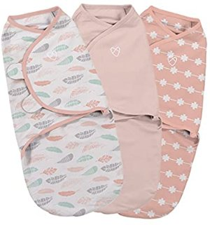 Amazon.com : SwaddleMe Original Swaddle, You're Mine Adeline, Large (3-6 Months) Pack of 3 : Baby