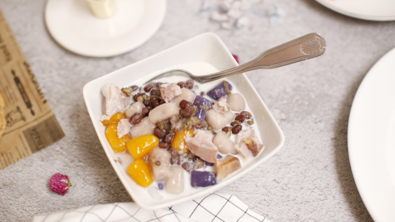 【自制芋圆】不浪费芋头和紫薯的方法之一,不妨试一下❤️