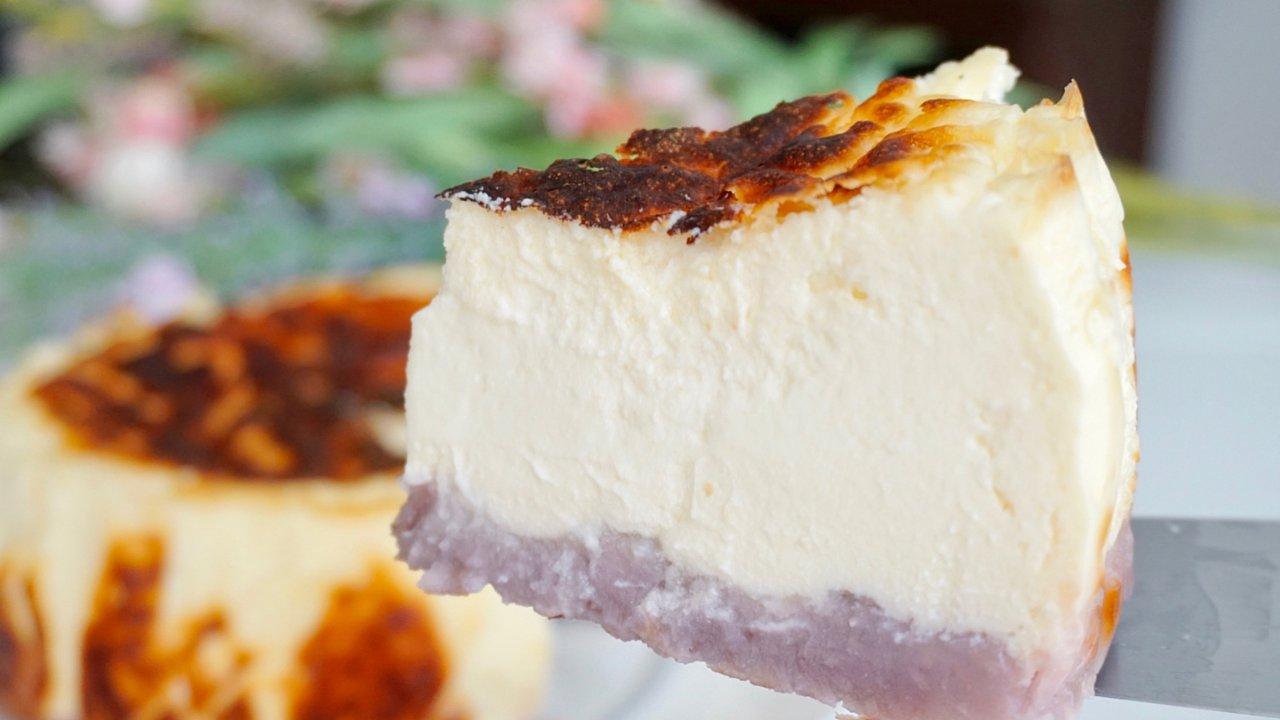 【超低卡高蛋白版】巴斯克烧焦芝士蛋糕😍减脂增肌必备甜品🤩