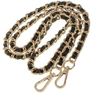 123Arts Synthetic Leather Metal Chain Genuine Replacement Interchangeable Shoulder Bag Strap Bag Accessories with Silk- 43 Inch: Handbags: Amazon.com