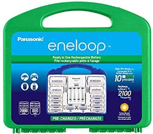 Amazon.com: Panasonic KJ17MCC82A eneloop Power Pack, 8AA, 2AAA, 2 C Adapters, 2 D Adapters, Advanced Individual Battery Charger and Plastic Storage Case (case color may vary): Eneloop: Home Audio & Theater