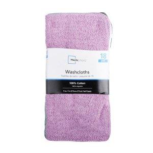Mainstays 家用清洁小方巾 18条装