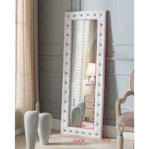 InRoom Designs Tufted Full Length Mirror & Reviews | Wayfair