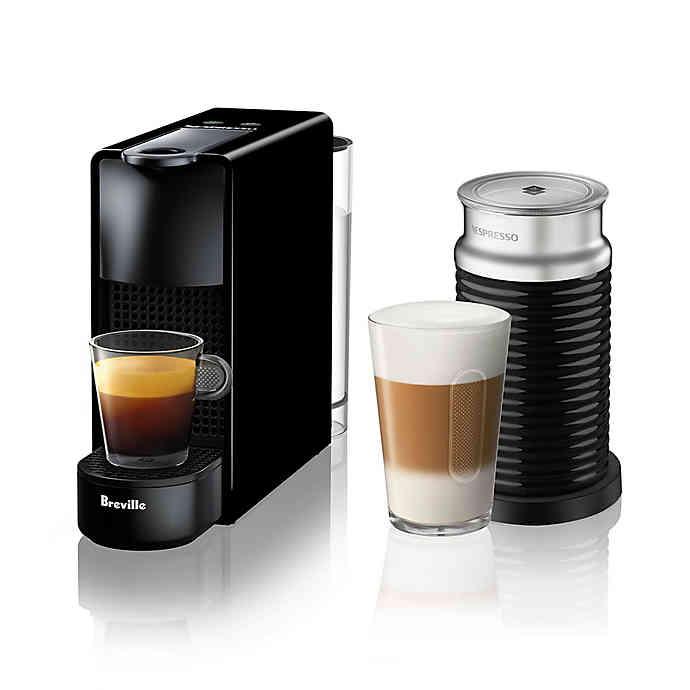 胶囊咖啡Nespresso® by Breville® Essenza Mini Espresso Maker with Aeroccino Frother | Bed Bath & Beyond