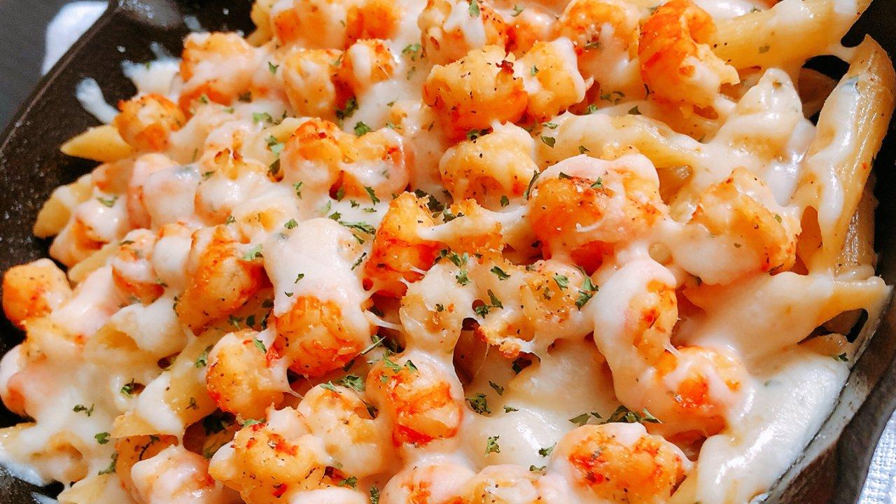 超美味的蒜香芝士焗小龙虾通心粉🦞简单好吃的家庭版做法