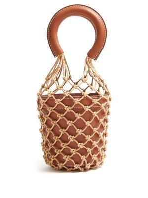 Moreau mini macramé and leather bucket bag | Staud | MATCHESFASHION.COM US