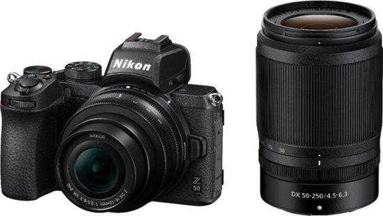 Nikon Z50 机身 +  NIKKOR Z DX 16-50mm & 50-250mm 镜头