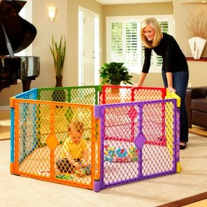 Toddleroo By North States Superyard Colorplay 6 Panel Freestanding Gate : Target
