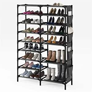 SHOWIN 9层鞋架 带侧面收纳袋