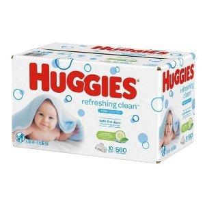 Huggies Refreshing Clean Cucumber/Green Tea Flip-top Packs Baby Wipes - 560ct : Target