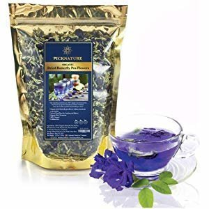 Amazon.com : Butterfly Pea Flowers (Clitoria ternatea) by Majestic Herbs | 100% Organic/Pesticide Free | Highest Quality | Carefully Selected Dried Asian Pigeonwings Flowers Blue Tea From Northern Thailand | 50g : Grocery & Gourmet Food