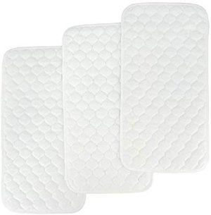 Amazon.com: Bamboo Quilted Thicker Longer Waterproof Changing Pad Liners for Babies 3 Count (White Gourd Pattern) by BlueSnail: Baby