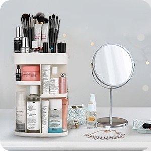 Jerrybox 360 Degree Rotation Makeup Organizer