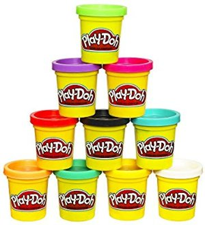 Amazon.com: Play-Doh Modeling Compound 10-Pack Case of Colors, Non-Toxic, Assorted Colors, 2-Ounce Cans, Ages 2 and up, (Amazon Exclusive): Toys & Games