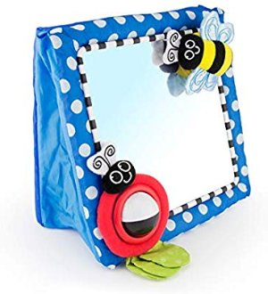 Amazon.com : Sassy Tummy Time Floor Mirror | Developmental Baby Toy | Newborn Essential for Tummy Time | Great Shower Gift : Baby Toys : Baby