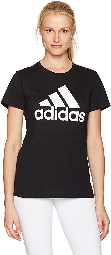 adidas 经典Logo款女子纯色运动T恤