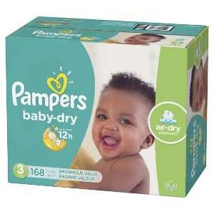 Pampers Baby Dry Disposable Diapers Enormous Pack : Target
