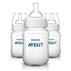 Amazon.com : Philips Avent Anti-colic Baby Bottles Clear, 9oz 3 Piece : Baby
