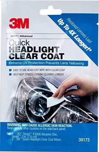 汽车头灯护理套装,清洁并防止镜片泛黄