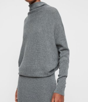 ALLSAINTS UK: Womens Ridley Dress (mid_grey_marl)