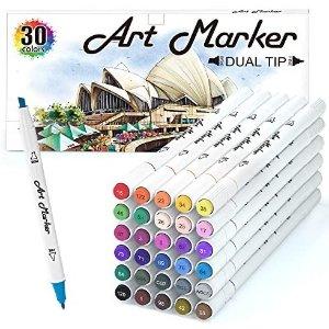 Lelix 30 Colors Art Markers