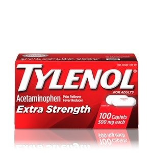 Tylenol Extra Strength Pain Reliever/Fever Reducer Caplets 500mg, 100 CT | CVS.com