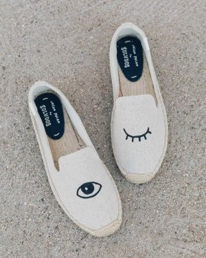 Wink Embroidery Smoking Slipper - Soludos