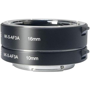 Amazon.com : MEIKE MK-S-AF3A Metal Auto Focus Macro Extension Tube Adapter Ring (10mm+16mm )for Sony Mirrorless E-Mount FE-Mount A7 NEX Camera A7 A7M2 NEX3 NEX5 NEX6 NEX7 A5000 A5100 A6000 A6300 A6500 : Camera & Photo