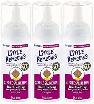 Amazon.com: Little Remedies Sterile Saline Nasal Mist | Safe for Newborns | 2 Fl Oz (Pack of 3): Health & Personal Care