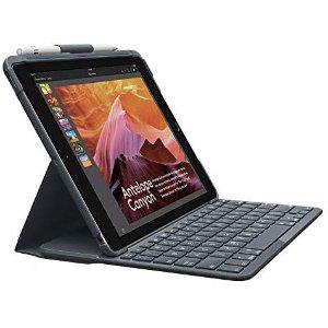 Logitech Slim ipad无线键盘带蓝牙 兼容iPad 5和 iPad 6