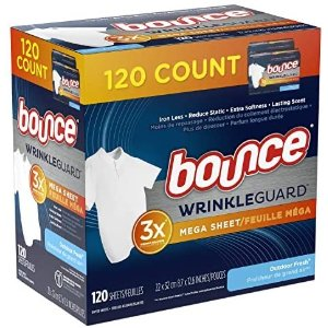 Bounce 3倍抗皱衣物烘干纸 120张