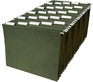 Amazon.com : AmazonBasics Hanging File Folders - Letter Size, Green, 25-Pack : Office Products
