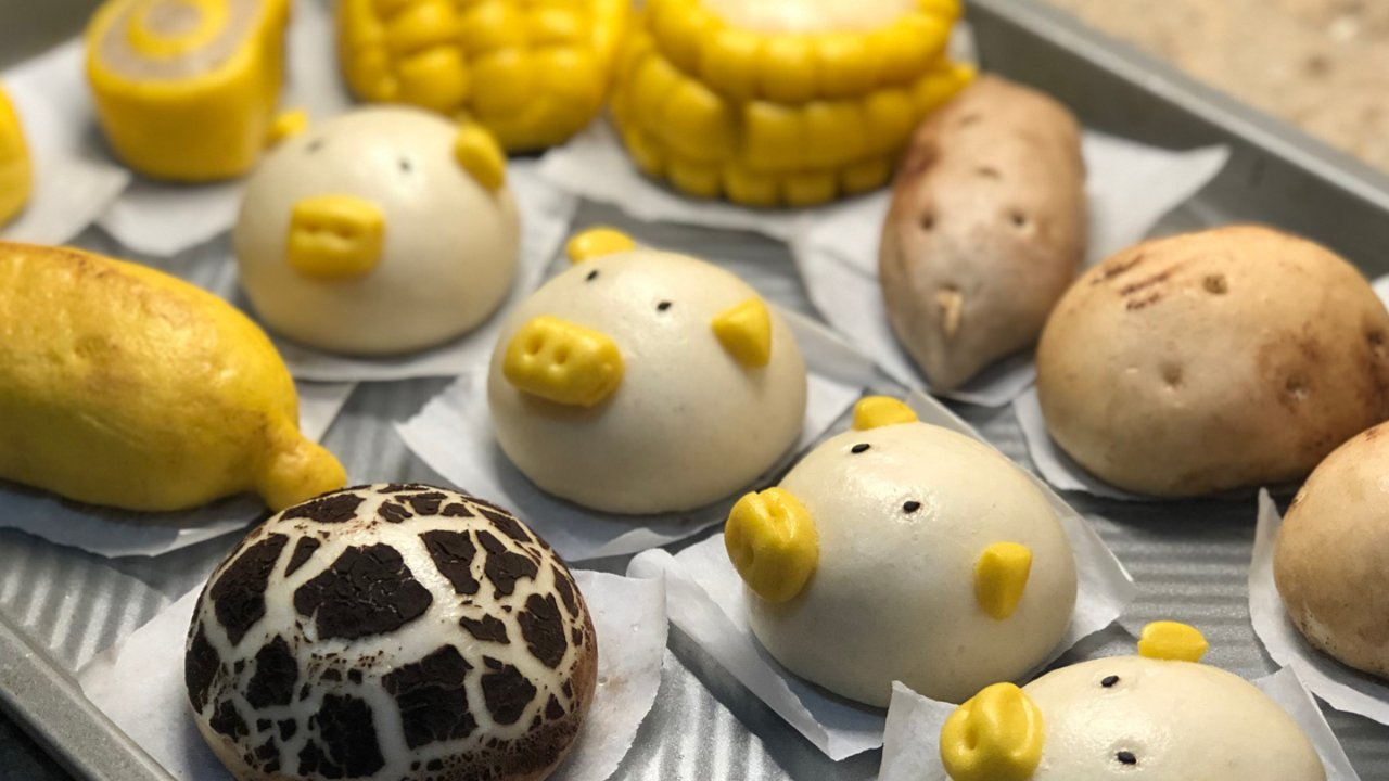 🎃🍠蔬果卡通包🍌🌽🐷🍄🥔面粉给你带来的快乐🙌