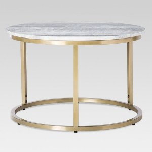 Small Marble Top Coffee Table - Gold - Threshold™ : Target