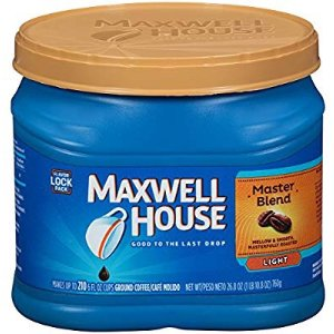 $4.74Maxwell House Master Blend Light Roast Ground Coffee 26.8 oz.