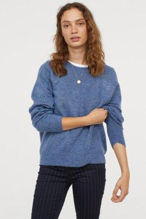 Knit Sweater - Blue melange - Ladies | H&M US