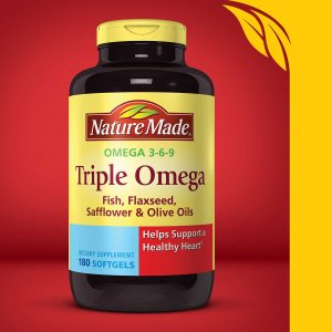 Nature Made Triple Omega, 180 Softgels