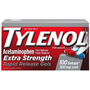 $9.47Tylenol Extra Strength Caplets with 500 mg Acetaminophen 100 ct