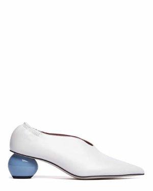 NOAH - POINTED EGG HEEL PUMPS | PUMPS | All Shoes | Pedder Red
