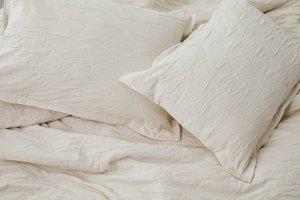 Organic Matelasse Ruched Diamond Duvet Set | Allswell Home