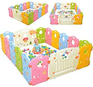 Amazon.com : Playpen Activity Center for Babies and Kids - Multicolor 16-Panel Set Play Yard : Baby