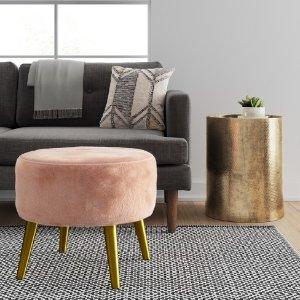 Riverplace Brass Cone Leg Ottoman - Project 62™ : Target