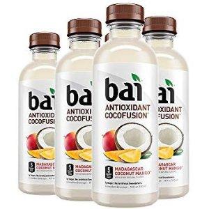 $10.02 一瓶只需$1.67Bai 芒果口味果汁调味水 18oz 6瓶