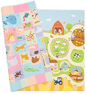 Amazon.com : Baby Care Play Mat (Large, Busy Farm) : Early Development Playmats : Baby