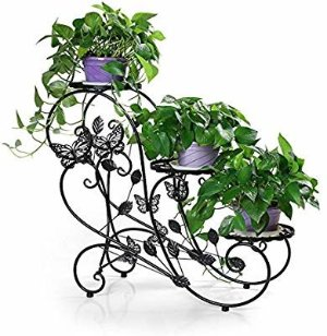 Amazon.com : Funmall 3-Tiered Plant and Flower Stand Plant Flower Pot Rack with Classic Design, Black : Gateway